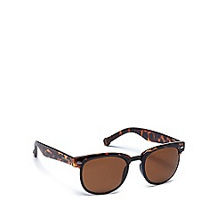 Converse - Brown plastic H063 square sunglasses