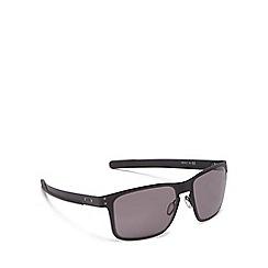 Oakley - Black metal 'Holbrook' square sunglasses