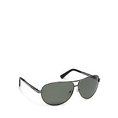 Dirty Dog - Grey metal '53101' pilot sunglasses