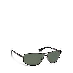 Dirty Dog - Grey metal '52888' rectangle sunglasses