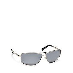 Dirty Dog - Grey metal '53189' rectangle sunglasses