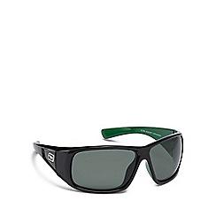 Dirty Dog - Green plastic 'Ultra' 53300 wrap sunglasses