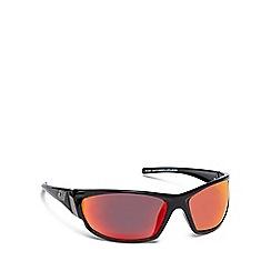 Dirty Dog - Black plastic 'Stoat' 53321 wrap sunglasses