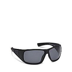 Dirty Dog - Black plastic 'Ultra' 53416 wrap sunglasses