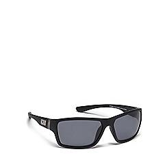 Dirty Dog - Black plastic 'Storm' 53344 rectangular sunglasses