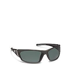 Dirty Dog - Grey plastic 'Stoat' 52993 wrap sunglasses