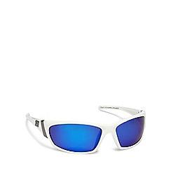 Dirty Dog - White plastic 'Stoat' 53105 wrap sunglasses