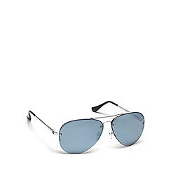 Dirty Dog - Grey metal 53427 pilot sunglasses
