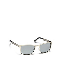 Dirty Dog - Silver metal 'Hurricane' 53474 rectangular sunglasses