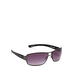 Bloc - Grey metal 'Billy' rectangle sunglasses