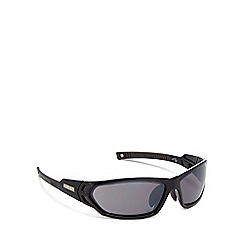 Bloc - Black plastic 'Scorpion' wrap sunglasses