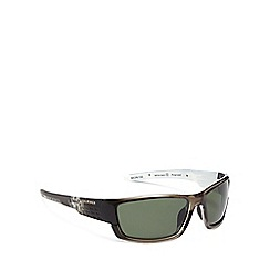 Bloc - Black plastic 'Delta' wrap sunglasses