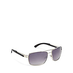 Bloc - Grey metal 'Dallas' rectangle sunglasses