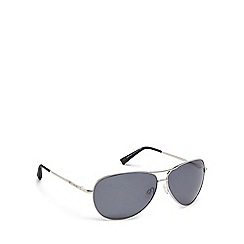Bloc - Grey metal 'Navigator' pilot sunglasses