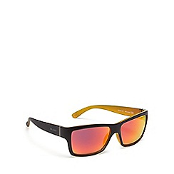 Bloc - Dark brown plastic 'Riser' square sunglasses