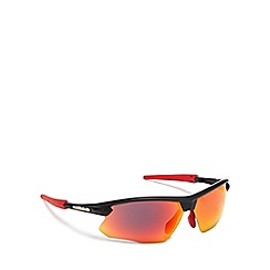 Bloc - Red plastic 'Fox' wrap sunglasses