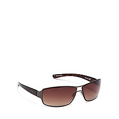 Bloc - Brown metal 'Billy' rectangle sunglasses