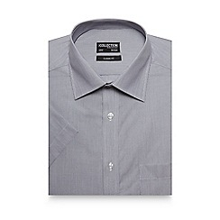 The Collection - Big and Tall Grey Striped Short Sleeve Shirt