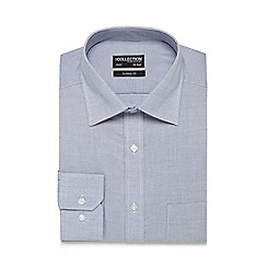 The Collection - Big and tall blue textured classic fit shirt