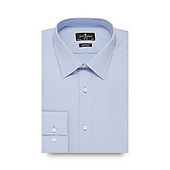 Jeff Banks - Big and tall blue poplin tailored fit shirt