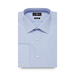 Jeff Banks - Blue poplin tailored fit shirt