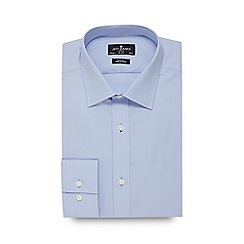 Jeff Banks - Blue poplin slim fit shirt