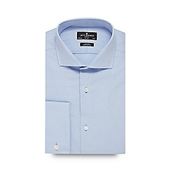 Jeff Banks - Big and tall blue poplin slim fit shirt