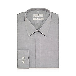 J by Jasper Conran - Grey dobby slim fit shirt