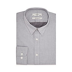 J by Jasper Conran - Big and tall grey dobby slim fit shirt