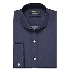 Hammond & Co. by Patrick Grant - Big and tall navy chambray slim fit shirt