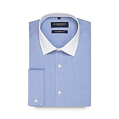 Osborne - Blue twill tailored fit shirt