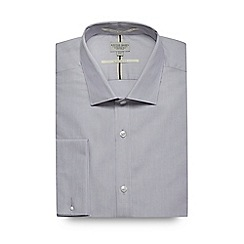 Racing Green - Light grey tailored fit shirt
