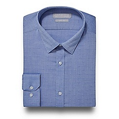 Red Herring - Blue dobby slim fit shirt