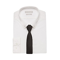 Red Herring - White slim fit shirt and black tie set