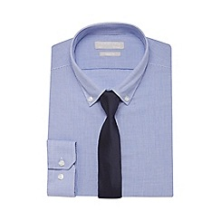 Red Herring - Blue checked slim fit shirt and tie set