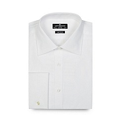 Jeff Banks - Big and tall designer white cotton shirt