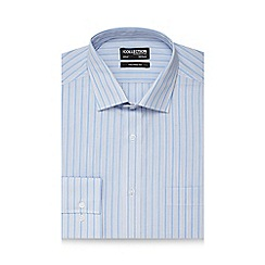 The Collection - Blue guard stripe tailored fit shirt