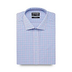 The Collection - Big and tall light blue prince of wales check shirt