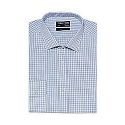 The Collection - White grid print regular fit shirt