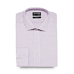 The Collection - Big and tall lilac grid check shirt