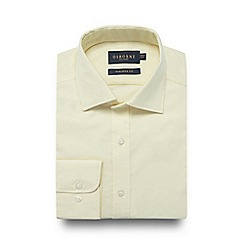 Osborne - Big and tall yellow tailored fit Oxford shirt