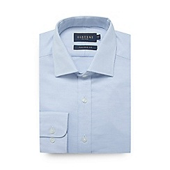 Osborne - Big and tall blue guard stripe tailored fit shirt