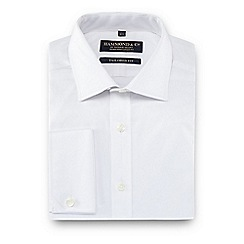Hammond & Co. by Patrick Grant - White semi-cutaway collar tailored fit shirt