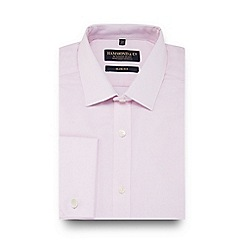 Hammond & Co. by Patrick Grant - Pink mini grid check slim fit shirt