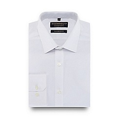 Hammond & Co. by Patrick Grant - White textured line tailored fit shirt