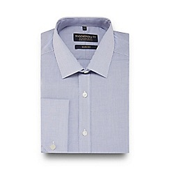 Hammond & Co. by Patrick Grant - Blue mini grid check slim fit shirt