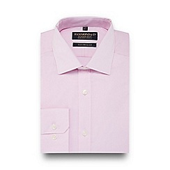 Hammond & Co. by Patrick Grant - Pink semi-cutaway collar tailored fit shirt