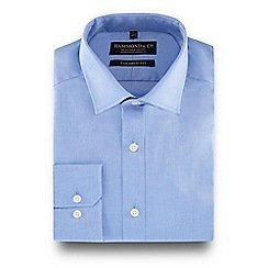 Hammond & Co. by Patrick Grant - Blue semi-cutaway collar tailored fit shirt