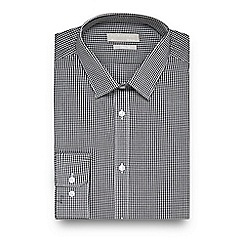 Red Herring - Black gingham check slim fit shirt