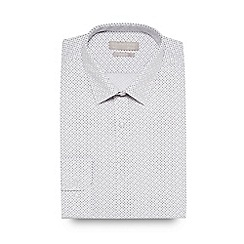 The Collection - White dash print slim fit shirt